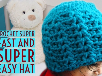 Crochet kids hat with bulky.chunky  yarn(6 to 8 years) - English version