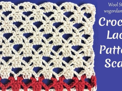 Crochet Lace Pattern for Scarf or other projects (Heklana mustra)