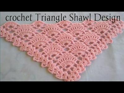 Crochet triangle Shawl design#2. hindi