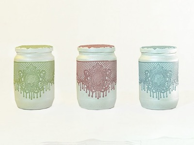 Decorative jars for your home-Easy Tutorial DIY