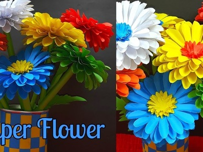 DIY | Awesome Paper Flower | Flower Making Tutorial Step by Step