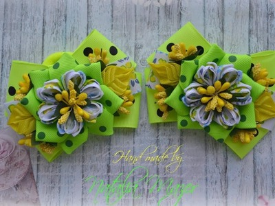 DIY Bright bows for hair for summer. LAÇOS DE fita