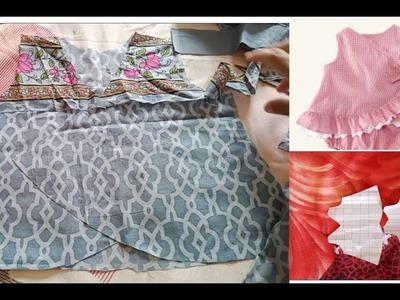 DIY casual wear summer baby  frock cutting stitching full tutorial