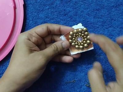 DIY - Copper Pearl Earrings. Easy earring making tutorial