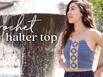 DIY Crochet Top — Halter Crop Top Tutorial