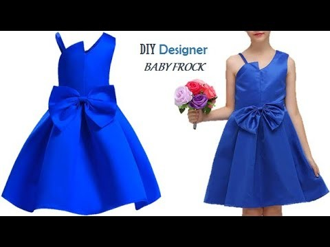 DIY Designer Baby Frock cutting and stitching Full Tutorial Step by step