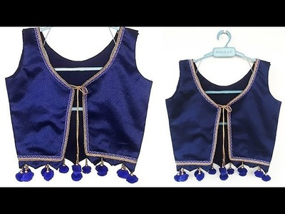 DIY designer koti.Jacket cutting and stitching full tutorial