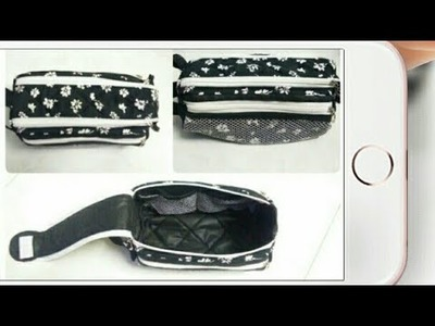 DIY : Double Zipper Gear Bag (Toiletry Bag) Tutorial By Anamika Mishra. .