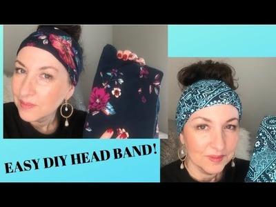 DIY Head Band from Walmart Leggings - Easy No Sewing!