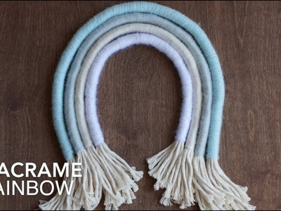 DIY Macrame Rainbow Tutorial