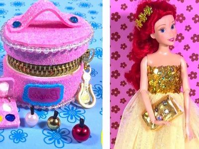 DIY Miniature Barbie Makeup Hacks and Dress Crafts