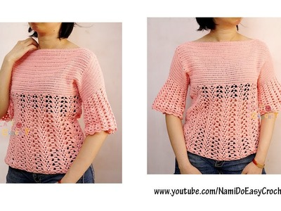 Easy Crochet for Summer: Crochet Sweater #27 (Part 2)