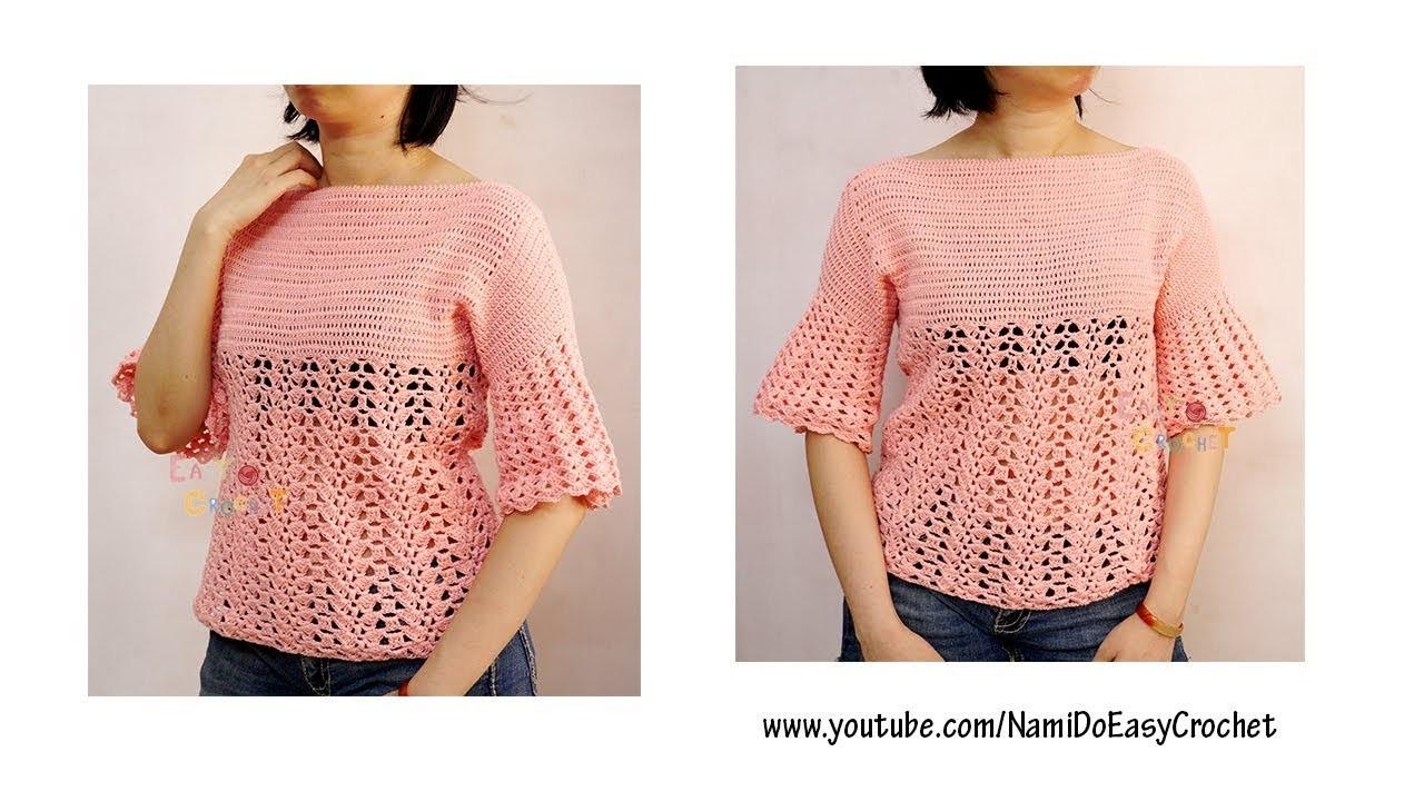 Easy Crochet for Summer: Crochet Sweater #27 (Part 2)