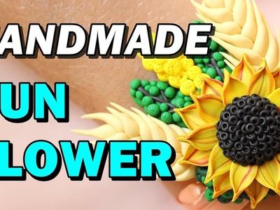 Handmade Sunflower - Polymer Clay DIY tutorial