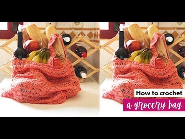 HOW TO CROCHET A GROCERY BAG  - EASY AND FAST - BY LAURA CEPEDA