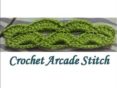 How To Crochet- Arcade Stitch Beginners Tutorial By Krishna Crochet