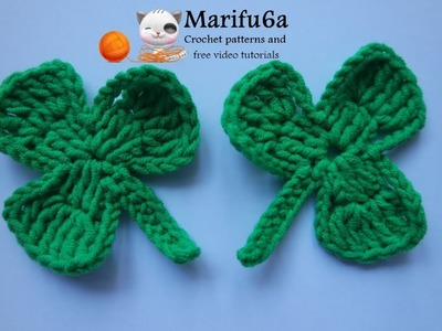How to crochet shamrock applique free pattern for beginners happy st Patrick day