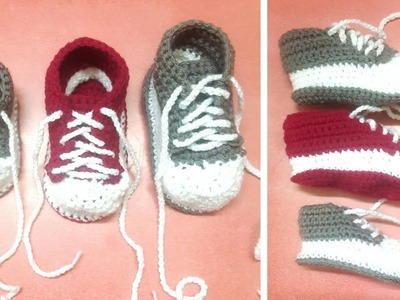 How to crochet woolen shoes for 1 year old baby | Part 1