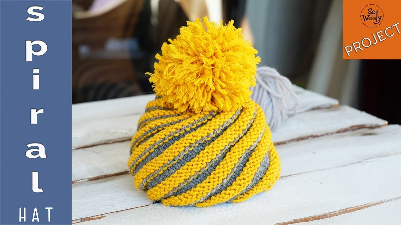 How to knit a spiral hat in two colors (all sizes) - So Woolly