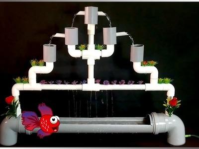 How to Make a Full PVC Aquarium Fountain   AWESOME DIY