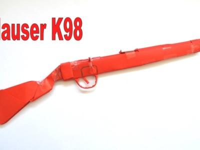 How to make a paper gun - Mauser K98 - DIY