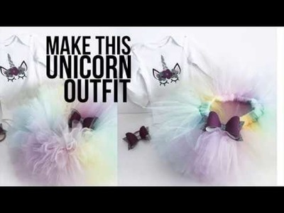 HOW TO MAKE A PASTEL RAINBOW UNICORN TUTU OUTFIT