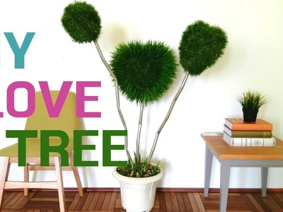 How to Make Artificial Love Tree | DIY-Green Love plant