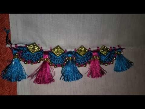 How to make beautiful saree kuchu for beginners||DIY||
