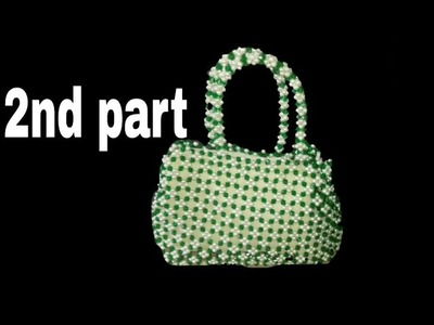 How to make crystal beaded bag (part 2).পুতির ব্যাগ