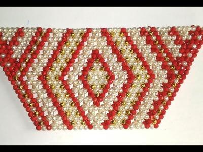 How to Make Crystal.Beaded Hand Purse.Design 15.Nomi.Namita crafts .
