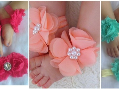 How to make  flower shoes and flowers hair Band  Best ideas