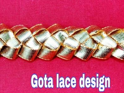 How to make gota lace | how to make gota dhanak lace | how to make gota bijiya | gota work