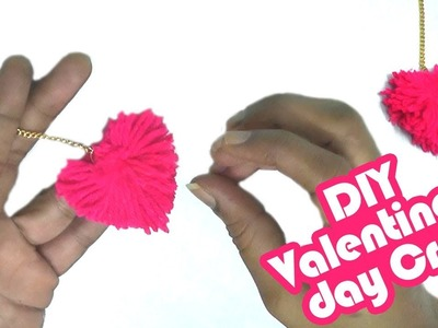 How to make heart shape pompom in Hindi | Heart gift for valentine's- woolen handmade craft