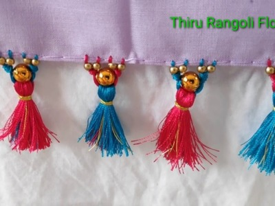 How to make kuchu   Sungu string for simple saree   Latest Matte pearl saree kuchu design