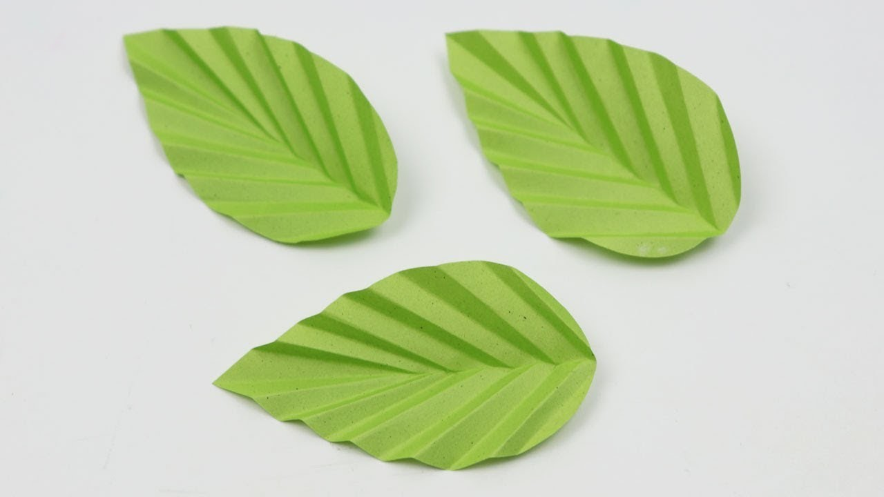 How To Make Paper Flower Leaves Diy Easy Paper Leaf Making Tutorial