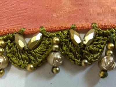 #How to make saree tassel. #Kuchu. #Beautiful saree tassel