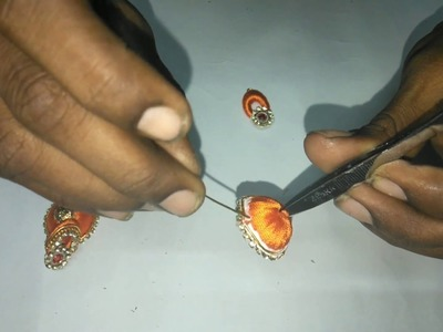 How To Make Silk Thread Earrings at Home | Making silk thread jhumkas