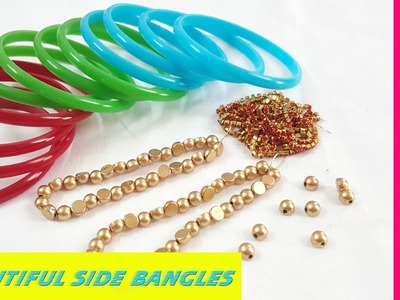How to Make Silk Thread Side Bangles at home    Side Bangles Designs