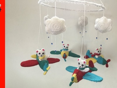 How to Make up a Crochet Airplane Mobile Tutorial - Crochet Plane Mobile Part 3
