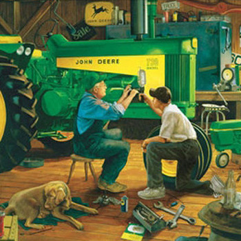 John Deere Time Together Cross Stitch Pattern***LOOK***X***INSTANT DOWNLOAD***