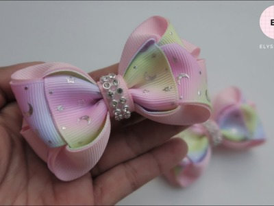 Laço De Fita ???? Ribbon Bow Tutorial #35 ???? DIY by Elysia Handmade