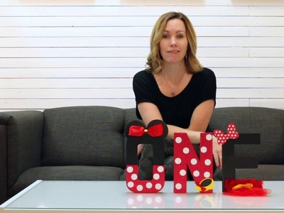 Minnie Mouse Cake Smash Photography Prop - DIY ONE Tutorial