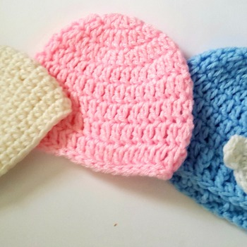 Newborn Crochet Hats 0-3 months old