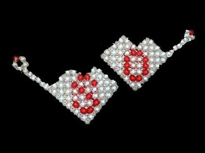 পুতির লাভ মধ্যে অক্ষর  How to make beade heart shape  Beaded love alphabet