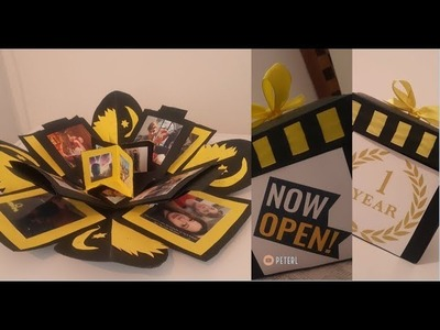 TUTORIAL: Easy 5$ Explosion Box DIY 3D Photo Album for Boyfriend. Girlfriend. Anniversary. Valentine