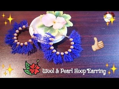 Wool & Pearl Hoop Earrings   Jewelry   Honey DIY