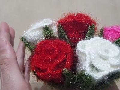 Woolen Flowers | learn how to make beautiful Woolen Decor