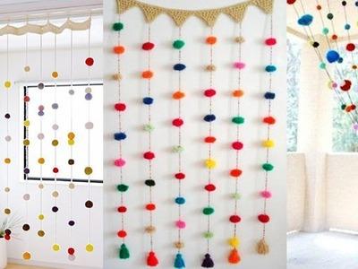 Woolen Pom Pom Door Hanging | How to make Door Hanging Toran | Woolen Pom Pom Craft Idea