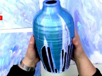 All NEW How to Fluid Art Top Down Vase Pour Technique Plus Bonus