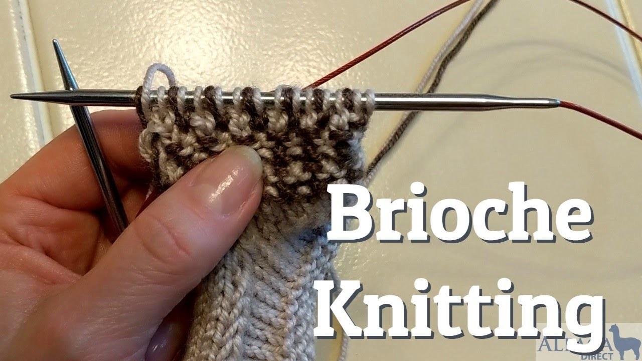 Brioche Knitting - Setup Rounds, Brioche Knit and Brioche Purl Stitch Techniques